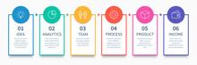 Process Columns Infographic. B...
