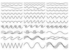 Wavy Lines. Wiggly Border, Cur...