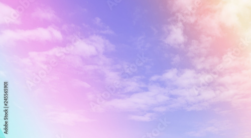 Foto auf AluDibond Flieder Clouds sky with gradient pastel color use for abstract background.
