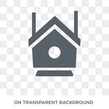 Bird House Icon. Bird House Design Concept From Agriculture, Farming And Gardening Collection. Simple Element Vector Illustration On Transparent Background.