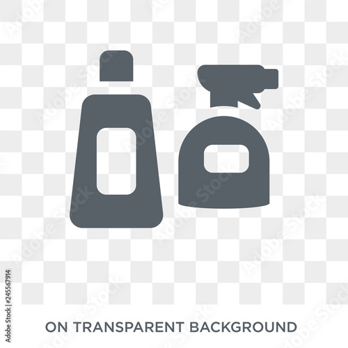 Cleaning products icon  Trendy flat vector Cleaning products icon on