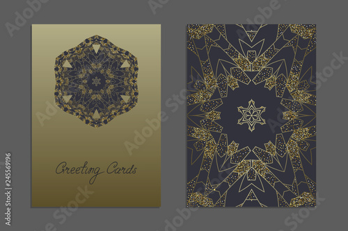 Luxury Templates for greeting and business cards, brochures