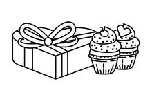 Bakery Cupcakes Cartoon