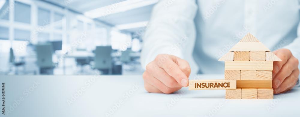 Fototapety, obrazy: Property insurance concept