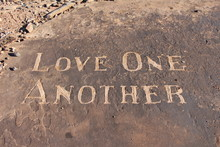 Love One Another Carving In Sa...
