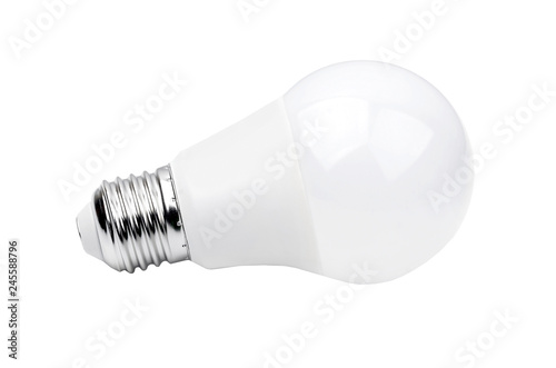LED bulb on white