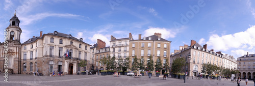 Obraz na plátně place de la mairie à Rennes
