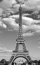 Eiffel Tower Also Called Tour Eiffel In French Language With Bla