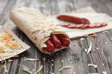 Spicy Sausages In Pita Bread O...