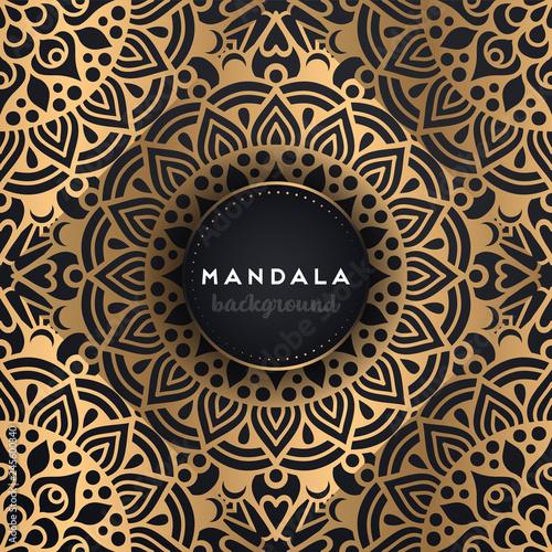 Photo  luxury ornamental mandala design background