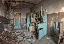 Old Destroyed Kitchen.