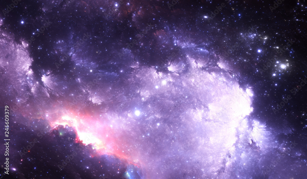 Fototapety, obrazy: Glowing space nebula and stars in deep space