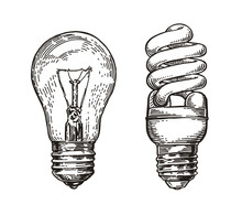 Lightbulb Sketch. Energy, Elec...