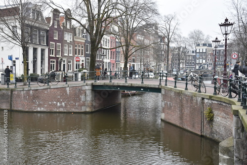canal in amsterdam Wallpaper Mural