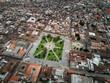plaza de armas in cajamarca peru
