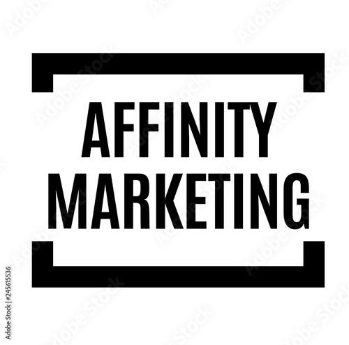 affinity marketing black stamp Canvas Print