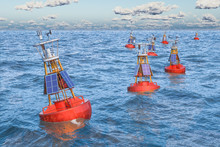 Marine Navigational Buoys In T...