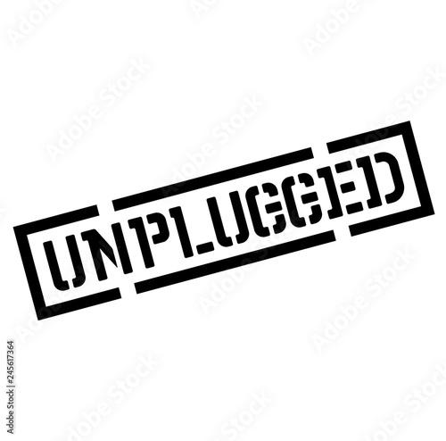 Fotografía  unplugged black stamp