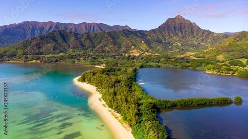 Canvas Print Secret Island and Moli'i Pond