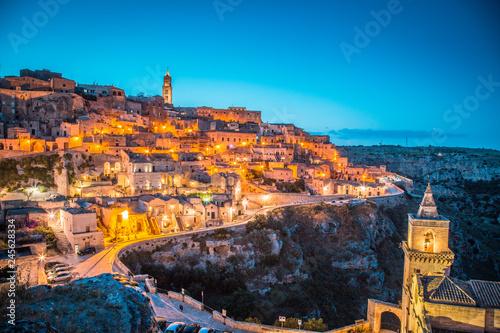 In de dag Centraal Europa Sassi di Matera at twilight, Basilicata, Italy