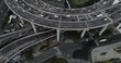 """Aerial view of Nanpu Bridge Nanpu Bridge Approach Bridge in Shanghai, the Chinese characters on the road indicate where you are going, it mean """"To Zhongshan Road"""", """"To Inner Ring Road"""", etc."""