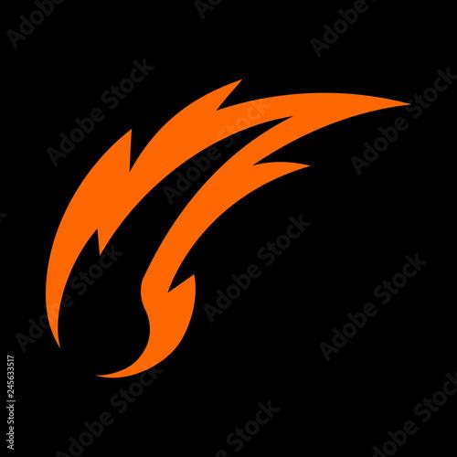 Fotografie, Obraz  Hot Flame Fireball vector cartoon