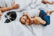 Little Girl Sleeping With Tedd...