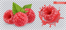 Raspberry. Sweet Fruit. 3d Rea...