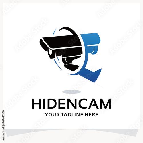 Fotografía  Hidden Camera Logo. CCTV Logo Design Template Inspiration