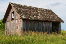 Old Small Wooden Barn