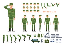 Soldier In Military Clothing C...