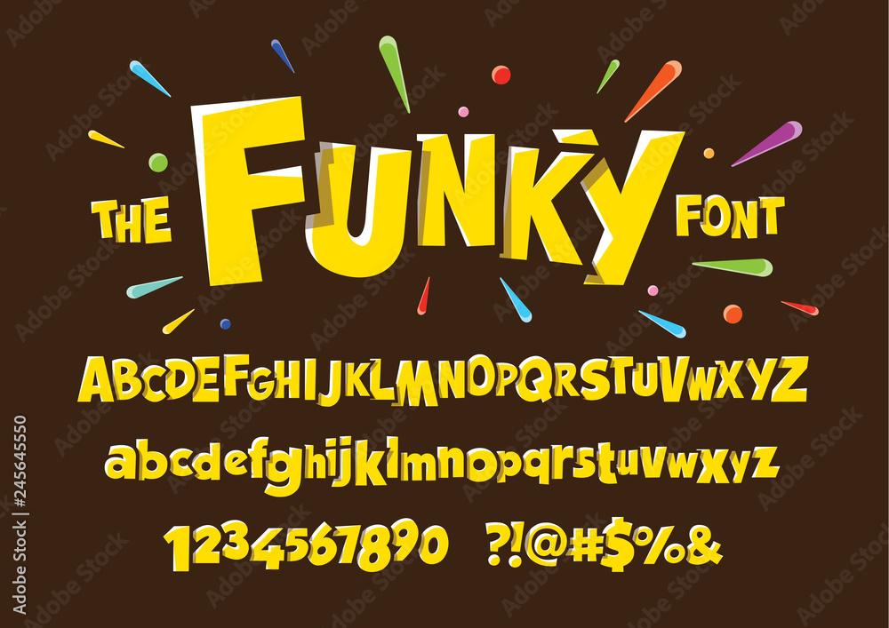 Fototapeta Colorful stylized font and alphabet