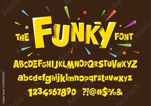 Colorful stylized font and alphabet Fototapet