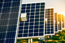Solar Photovoltaic Panel Iron Bracket Detail Partial Shooting