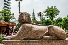 Sculpture In Front Of The EGYP...