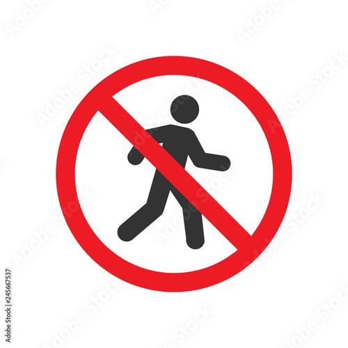 Photo pedestrian prohibited sign