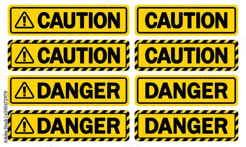 警告サイン(CAUTION & DANGER) Canvas Print