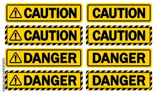 Photo 警告サイン(CAUTION & DANGER)