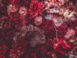 Leinwandbild Motiv Artificial Flowers Wall for background in vintage style