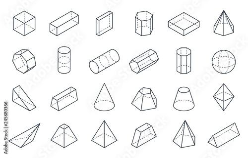 Fotografía  3D geometric shapes