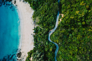 Bird eye view of Nui Bay, Koh Lanta