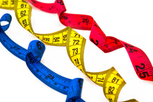 Diet And Slimming Concept, Colorful Measuring Tape Isolated
