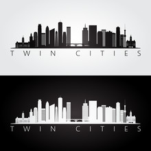 Twin Cities USA Skyline And La...