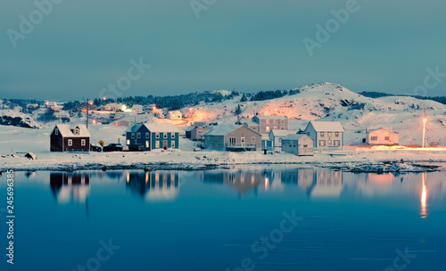 Fotografija Winter Dusk in Durrell of Twillingate NL Canada