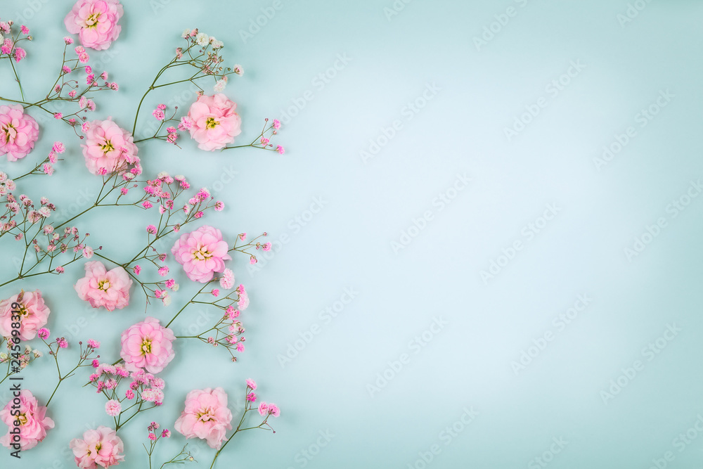 Fototapety, obrazy: Floral composition with spring flowers for Easter