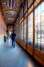 Glazed Corridor Of Sant Pau Ho...