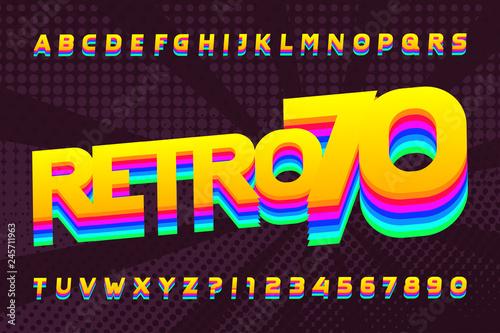Fotografia  70s retro typeface