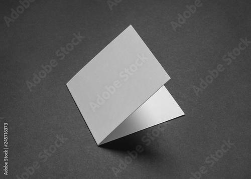 Fotografie, Obraz  Rectangular card with a black paper
