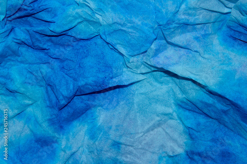 Photo Stands Abstract wave Amazing Blue Painted Background. Blurred Abstract Texture. Blue Color Background.