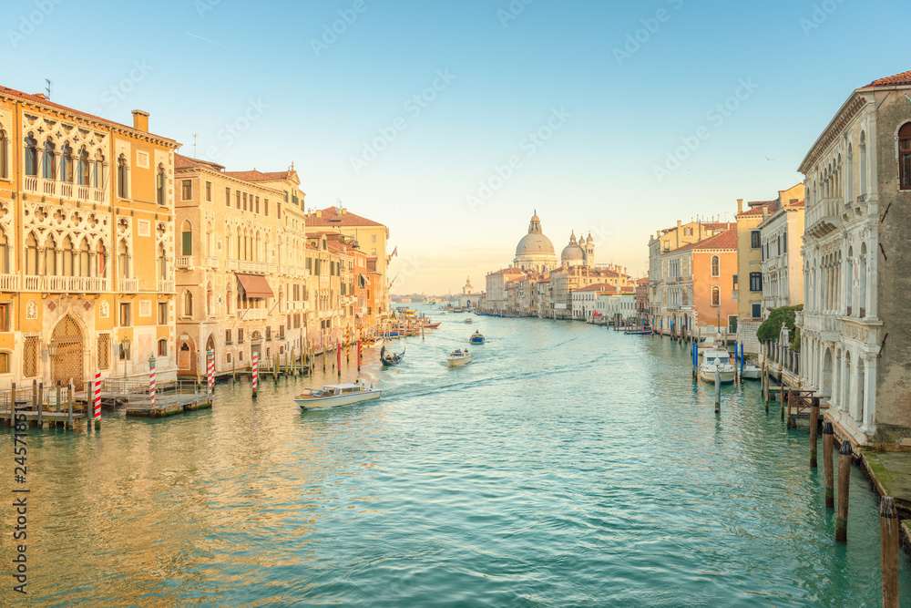 Fototapety, obrazy: Sunset at the Grand Canal, Venice - Italy